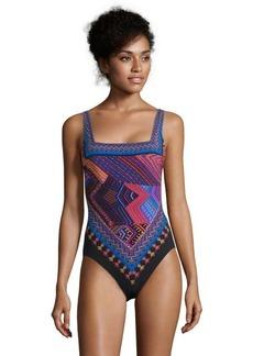 Gottex blue geometric print 'Creole' swimsuit