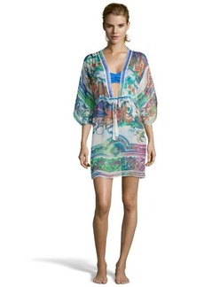 Gottex blue paisley silk 'Kohphangan' cover up dress