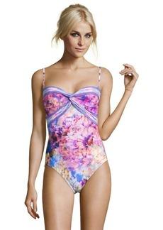 Gottex floral pink 'Fandeau' bandeau swimsuit
