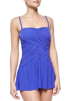Gottex Flutter Lattice-Wrap Swim Dress