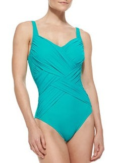 Gottex Lattice-Wrapped One-Piece Swimsuit