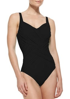 Gottex Lattice-Wrapped One-Piece Swimsuit
