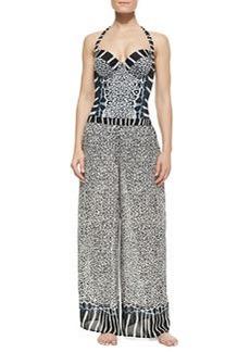 Gottex Savannah Mixed-Print Coverup Pants