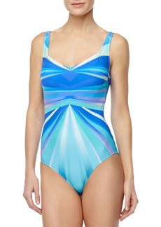 Gottex Seraphine Ray-Print One-Piece Swimsuit