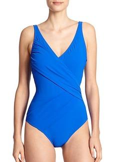 Gottex Swim One-Piece Escape Surplice Swimsuit