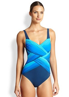 Gottex Swim One-Piece Multi-Tone Swimsuit