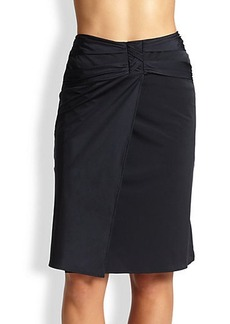 Gottex Swim Shirred-Waist Skirt