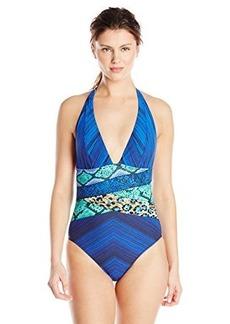 Gottex Women's Emerald Boa Halter One Piece Swimsuit