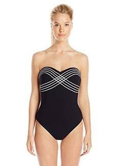 Gottex Women's Lady Like Luxe Heart Shape Bandeau One Piece Swimsuit