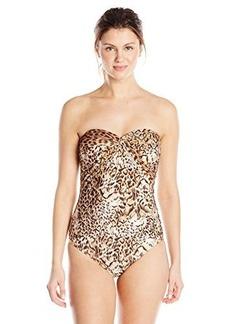 Gottex Women's Maculato Bandeau One Piece Swimsuit