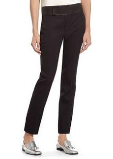 Black Fine Wool Skinny Tuxedo Pant   Black Fine Wool Skinny Tuxedo Pant