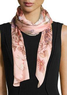 Bloole Floral-Print Stole, Pink   Bloole Floral-Print Stole, Pink