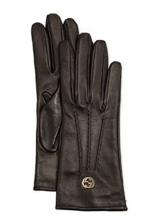 Classic Leather Driving Gloves, Black   Classic Leather Driving Gloves, Black