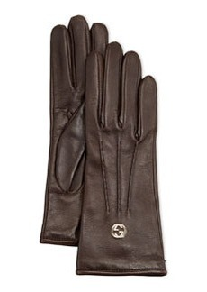 Classic Leather Driving Gloves, Cocoa   Classic Leather Driving Gloves, Cocoa