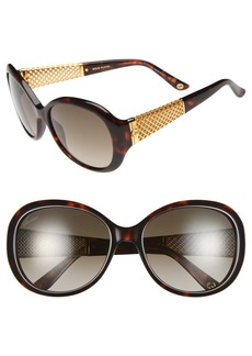 Gucci 56mm 18k Gold Plate Gradient Sunglasses