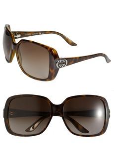 Gucci 59mm Oversized Square Sunglasses