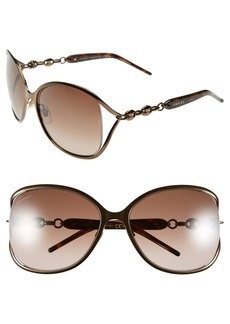 Gucci 60mm Butterfly Sunglasses
