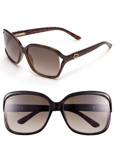Gucci 60mm Oversized Sunglasses