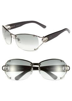 Gucci 62mm Open Temple Rimless Sunglasses