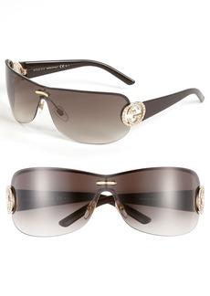 Gucci 74mm Rimless Shield Sunglasses