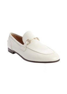 Gucci back leather horsebit detail slip on loafers