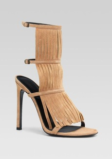 Gucci Becky Fringe High Heel Sandals