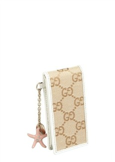 Gucci beige and cream GG canvas and leather ipod case
