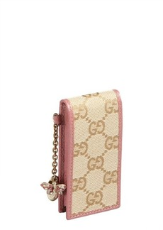 Gucci beige and pink GG canvas and leather ipod case