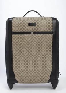 Gucci beige diamante plus canvas roll away spinner carry-on luggage