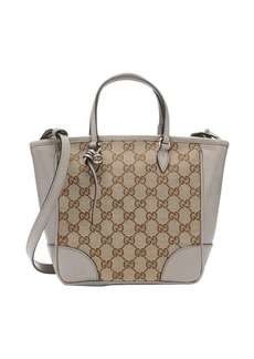Gucci beige gg canvas and grey leather 'Bree' convertible satchel