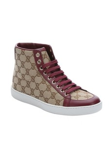 Gucci beige gg canvas hi-top sneakers