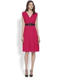 Gucci Belted Crepe Jersey Dress