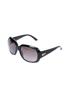 Gucci black 60mm guccisima leather detail square sunglasses