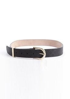 Gucci black diamante leather belt