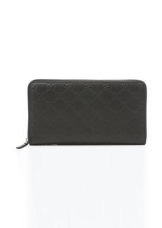 Gucci black guccissima leather wallet