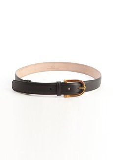 Gucci black leather bamboo buckle belt