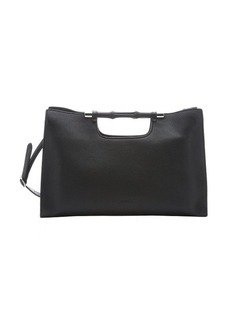 Gucci black leather 'Bamboo Daily' convertible tote