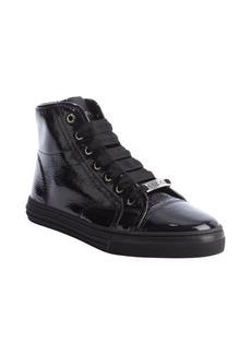 Gucci black leather cap toe hi top sneakers