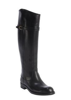 Gucci black leather horsebit buckle boots