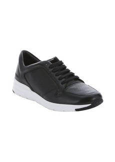 Gucci black leather lace-up sneakers
