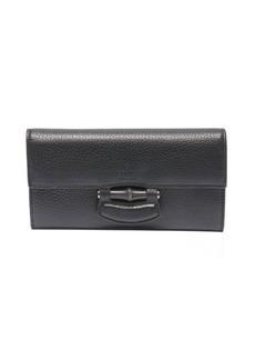 Gucci black leather 'Noveau' continental wallet