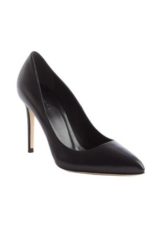 Gucci black leather pointed toe pumps