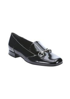 Gucci black leather 'Regent' horsebit loafers
