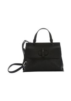 Gucci black leather small 'Bamboo Daily' convertible top handle bag