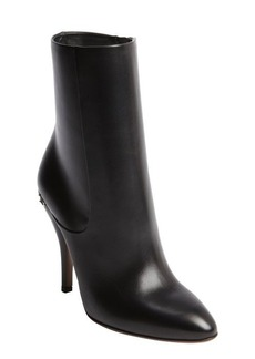 Gucci black leather zipper detail ankle boots