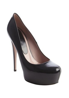 Gucci black patent leather platform stiletto pump