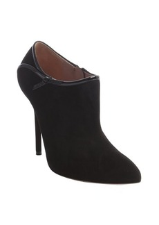 Gucci black suede 'Calzature' patent detail ankle booties