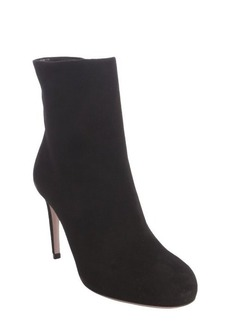 Gucci black suede zipper ankle boots