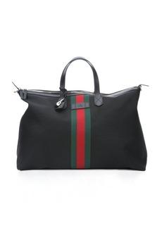 Gucci black techno canvas carry-on tote bag