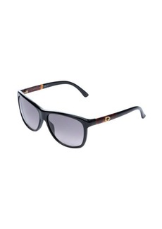 Gucci black tortoise 57mm sunglasses